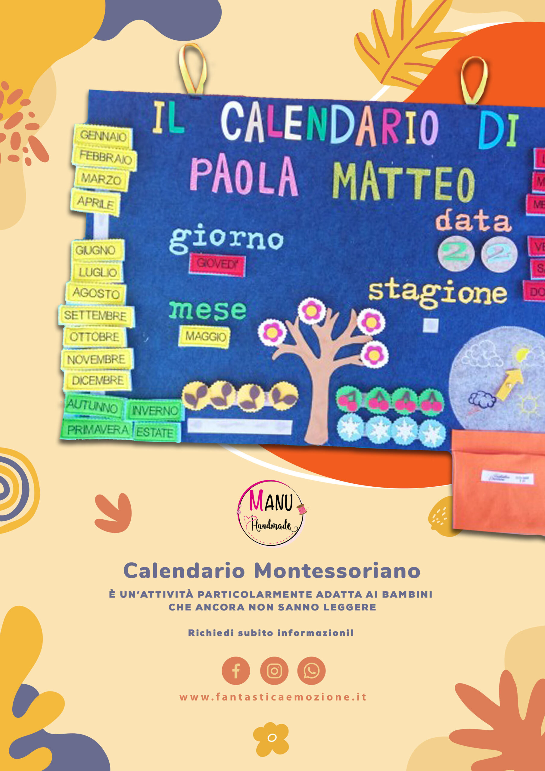 Calendario Montessoriano Manu Hand Made